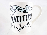 Cup Of Gratitude - Grateful Thankful Blessed- 16 oz Stoneware Mug - Our Name Is Mud